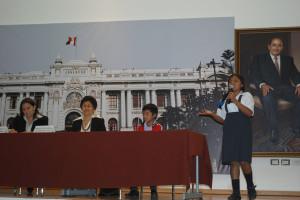 Melissa Chero llegó desde Morropón, Piura para expresar qué significa ser discriminado.