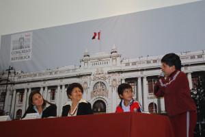 Lerner Muñoz (12a.), de San Juan de Lurigancho, llevó la voz de los niños en condición de discapacidad que viven la falta de accesibilidad a la escuela.