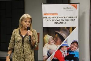 Dra. Susana Mara, Coordinadora General de Políticas Públicas de Primera Infancia y Familias del Instituto del Niño y del Adolescente del Uruguay