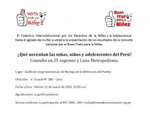 Invitación 11 marzo